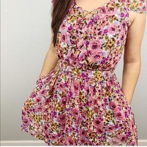 Guess Los Angeles floral dress